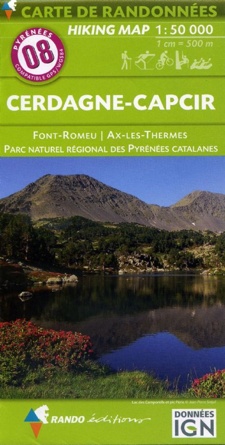 Rando Editions 1:50,000 Walking Map Of the Pyrenees Map 08 - Cerdagne - Capcir